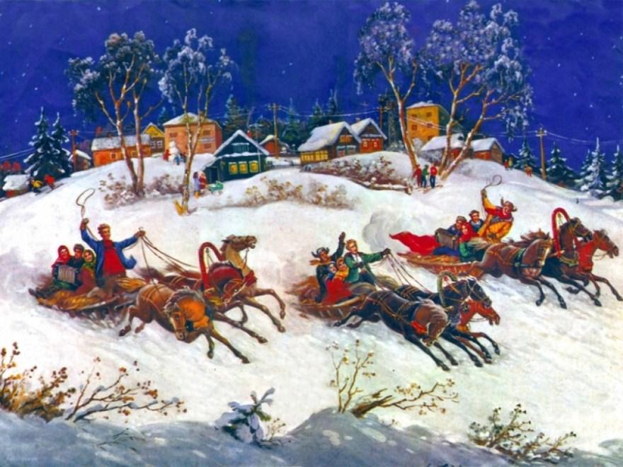 Зимние национальные праздники русских картинки фотографии анимации бесплатно открытки