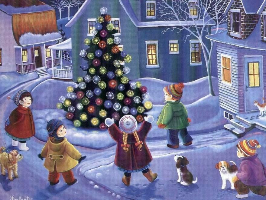 Зимние праздники народов России картинки открытки фото бесплатно